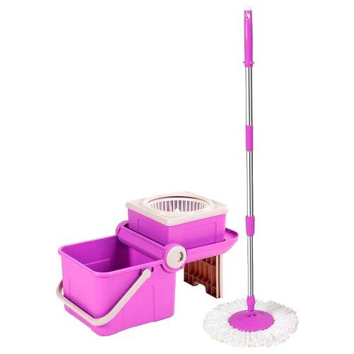Набор Keya Spin Mop Mini Transformer, фиолетовый/белый