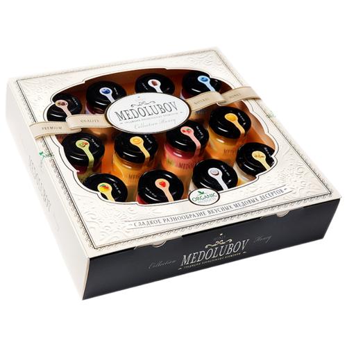 Крем-мед Medolubov Ассорти, 12 шт. подарочный наборМед и продукты пчеловодства<br>