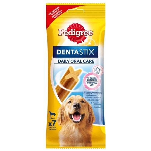 Лакомство для собак Pedigree Denta Stix для крупных пород, 7 шт. в уп.