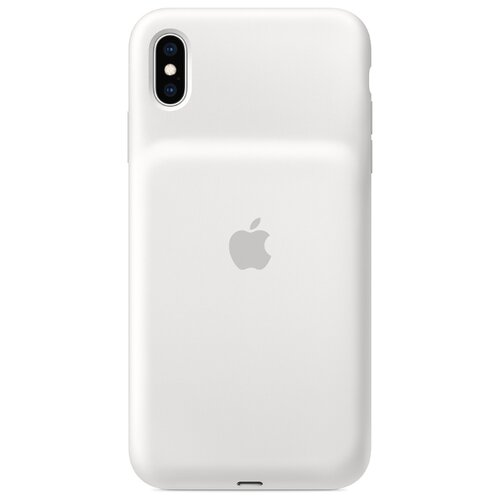 Чехол-аккумулятор Apple Smart Battery Case для Apple iPhone XS Max белый чехол аккумулятор для iphone xs apple smart battery case pink sand клип клейс силикон беспроводная зарядка