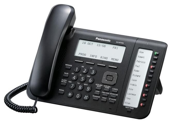 VoIP-телефон Panasonic KX-NT556 черный
