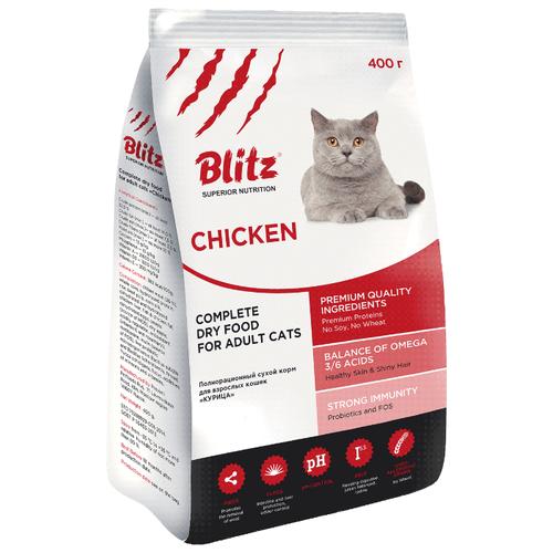 Корм для кошек Blitz Adult Cats Chicken dry (0.4 кг) first blitz
