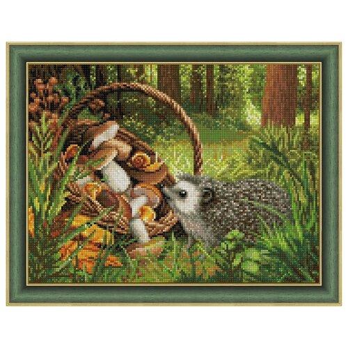 Купить Алмазная живопись Набор алмазной вышивки Ёжик в лесу (АЖ-1760) 40х30 см, Алмазная вышивка