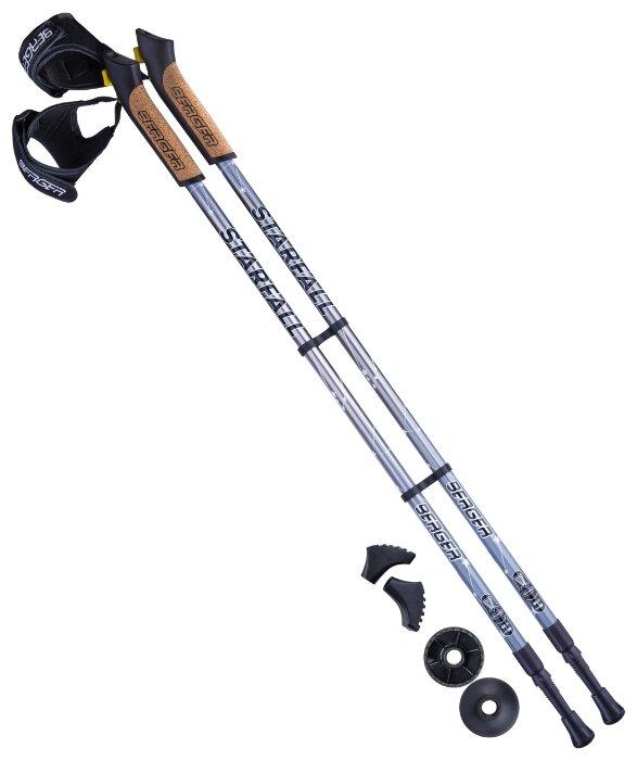 Палка для скандинавской ходьбы 2 шт. BERGER Starfall 2-секционная 77-135 см