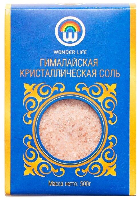 Wonder Life Соль Гималайская розовая, мелкий помол, 500 г