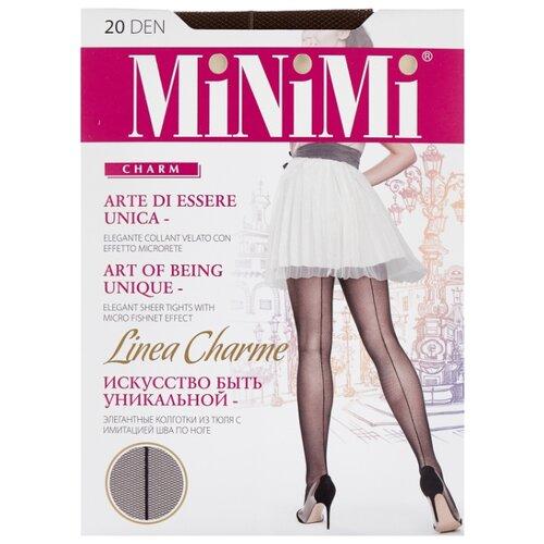 Колготки MiNiMi Linea Charme 20 den, размер 4-L, cappuccino (коричневый) колготки minimi linea charme 20 den размер 4 l daino бежевый