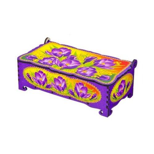 Сувенирный Дом Панда шкатулка Крокус 531114СК фиолетовый