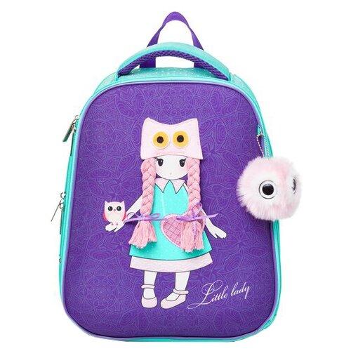 Купить Hatber Рюкзак Ergonomic Little lady (NRk_30052), фиолетовый, Рюкзаки, ранцы