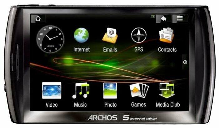 Планшет Archos 5 Internet tablet 8Gb