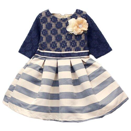Купить Платье Baby Rose размер 98, бежевый/синий, Платья и сарафаны
