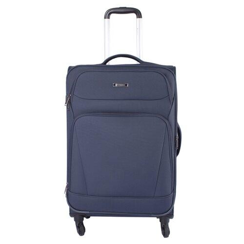 Чемодан Edmins 362 M, темно-синий чемодан airport 78 см темно синий 4 колеса