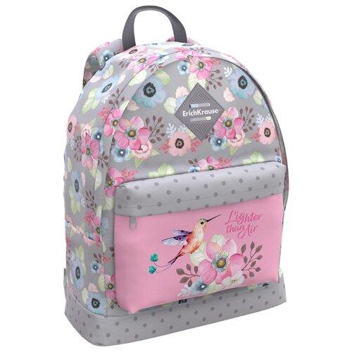 Купить ErichKrause рюкзак EasyLine Colibri, серый/розовый, Рюкзаки, ранцы