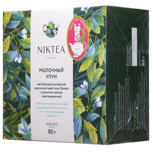 Фото - Чай улун Niktea Молочный Улун в пакетиках для чайника, 80 г 20 шт. чай в пакетиках фиточаи байкальские женский лечебный с боровой маткой 20 шт по 1 5 г