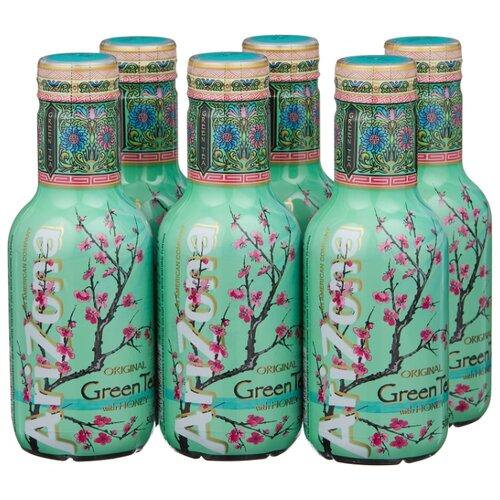 Чай AriZona Green Tea with Ginseng and Honey, ПЭТ, 0.5 л, 6 шт.