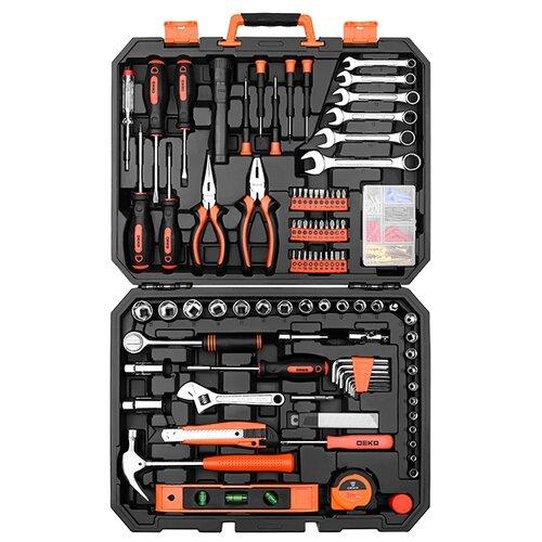 Фото - Набор инструментов DEKO (208 предм.) DKMT208 черный/оранжевый набор инструментов sparta 6 предм 13540 черный оранжевый