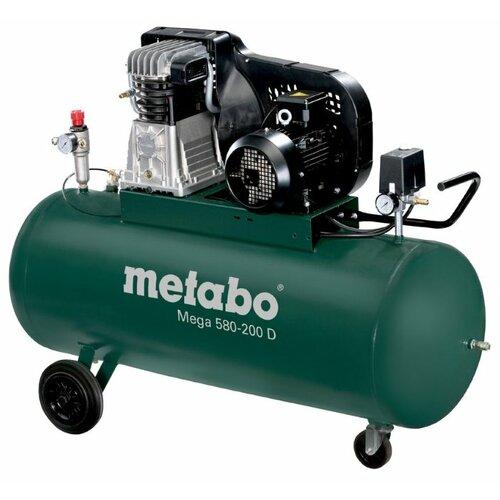 Фото - Компрессор масляный Metabo Mega 580-200 D, 200 л, 3 кВт компрессор масляный fubag b5200b 200 ct4 200 л 3 квт