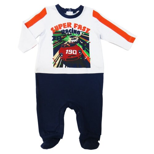 Купить Комбинезон Sonia Kids размер 62, белый/темно-синий, Комбинезоны