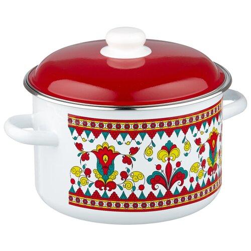 Кастрюля Appetite Карусель 5,5 л, белый/красный appetite sh05473