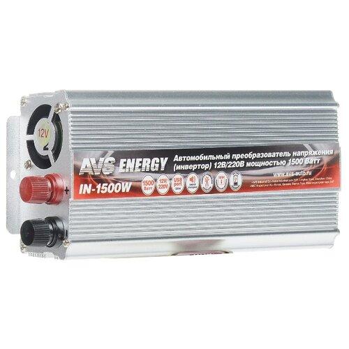 Инвертор AVS IN-1500W серебристый