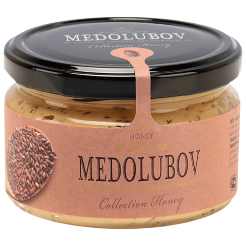 Крем-мед Medolubov Урбеч с семенами льна 250 мл