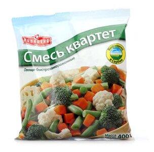 PODRAVKA замороженная овощная смесь квартет 400 г