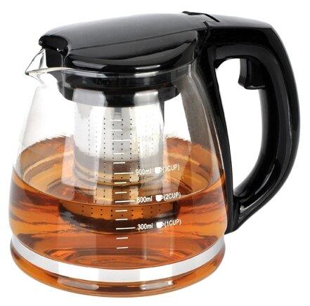 МФК Заварочный чайник стеклянный 1,1 л МОНО. BLACK