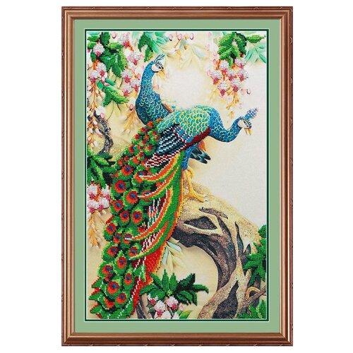 Купить М.П.Студия Набор для вышивания бисером Павлины 25 x 40 см (бг-174), Наборы для вышивания