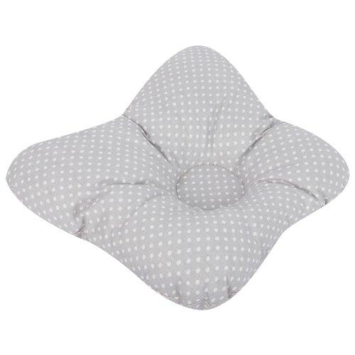 Подушка Зайка Моя анатомическая Горох на сером серыйПокрывала, подушки, одеяла<br>