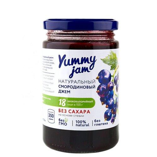Джем Yummy jam натуральный смородиновый без сахара, банка 350 гВаренье, повидло, протертые ягоды<br>
