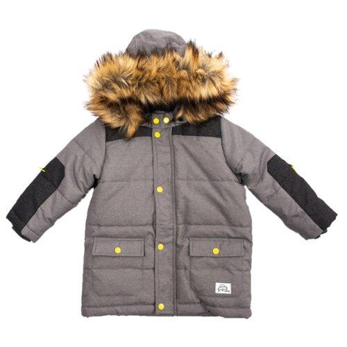 Куртка playToday размер 92, серый толстовка playtoday размер 92 серый