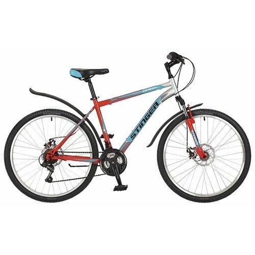 Горный (MTB) велосипед Stinger Caiman D 26 (2017) оранжевый 18 (требует финальной сборки)