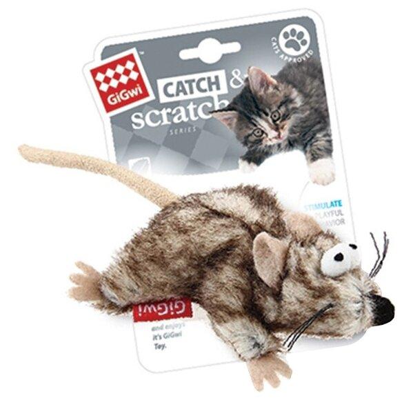 Игрушка для кошек GiGwi Catch & Scratch Мышка (75383)