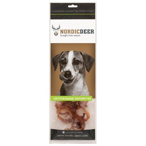 Лакомство для собак Nordic Deer Трахея говяжья кольца, 100 г