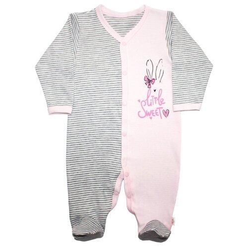 Купить Комбинезон Веселый Малыш размер 80, серый/розовый, Комбинезоны