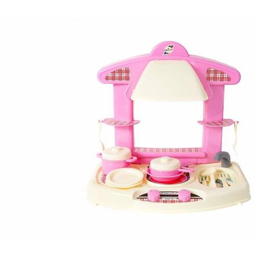 Купить Кухня Orion Toys Маленькая умница 327 розовый/белый, Детские кухни и бытовая техника