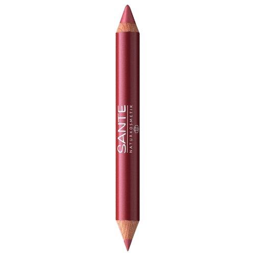 Sante Naturkosmetik помада-карандаш для губ 2 в 1 Lip Duo Contour & Gloss, оттенок 02 natural look