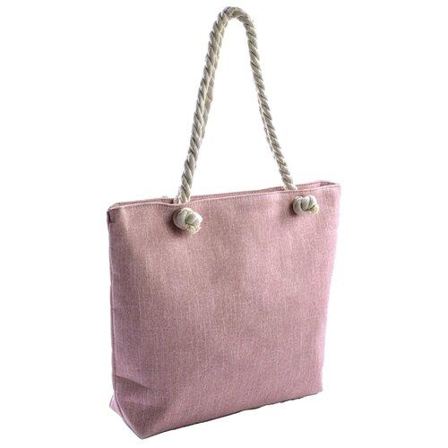 Сумка тоут Kingth Goldn C030, текстиль, розовый сумка тоут kingth goldn c187 3 4 7 8 9 текстиль