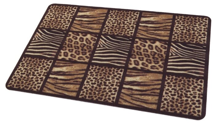 Придверный коврик RemiLing Сафари, размер: 0.68х0.45 м, коричневый