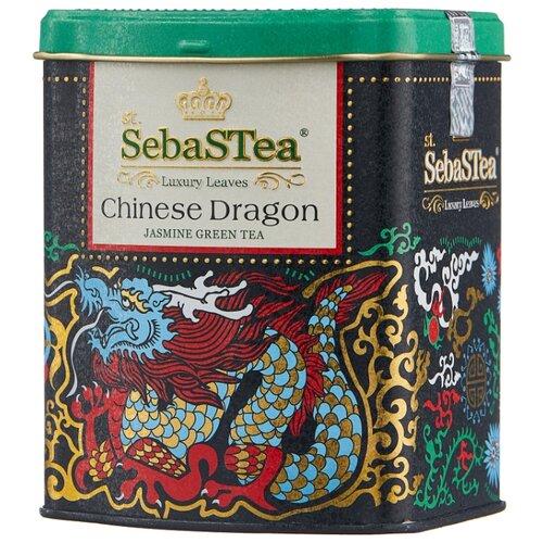 Чай зеленый SebaSTea Chinese dragon, 100 г чай листовой зеленый sebastea chinesse dragon 100 г