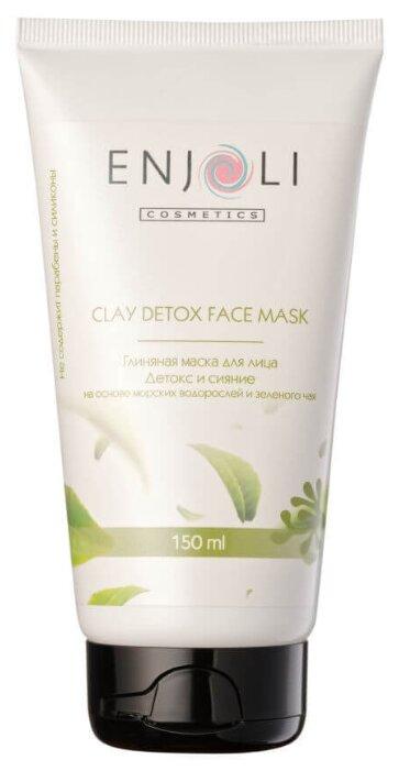 Enjoli cosmetics Глиняная маска для лица Детокс на основе морских водорослей и зеленого чая