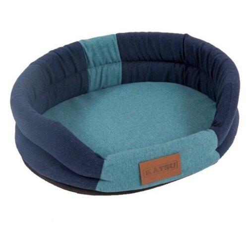 Лежак для собак и кошек Katsu Animal L 79х65х25 см синий/голубой