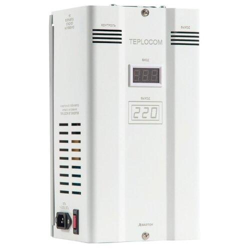 Стабилизатор напряжения однофазный БАСТИОН TEPLOCOM ST-1500 INVERTOR (1.2 кВт) белый