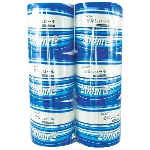 Туалетная бумага Ellemoi белая однослойная 161696, 6 рул.