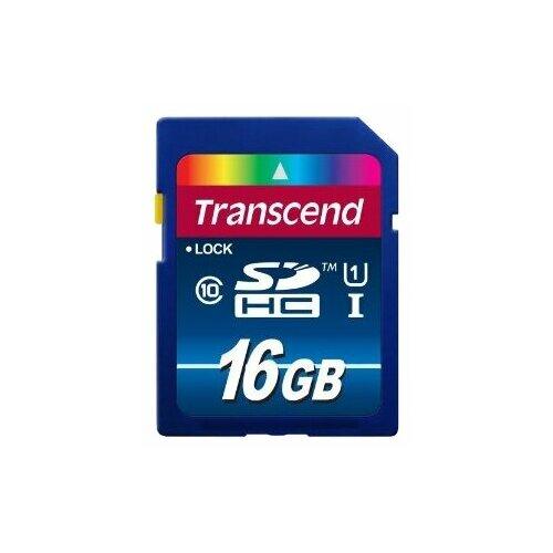 Фото - Карта памяти Transcend TS*SDU1 16 GB, чтение: 45 MB/s, запись: 25 MB/s карта памяти transcend ts sdxc10 128 gb запись 16 mb s