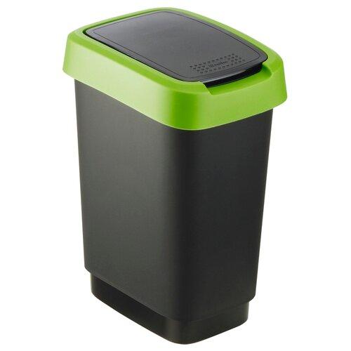 Ведро Rotho Twist 17545, 50 л черный/зеленый