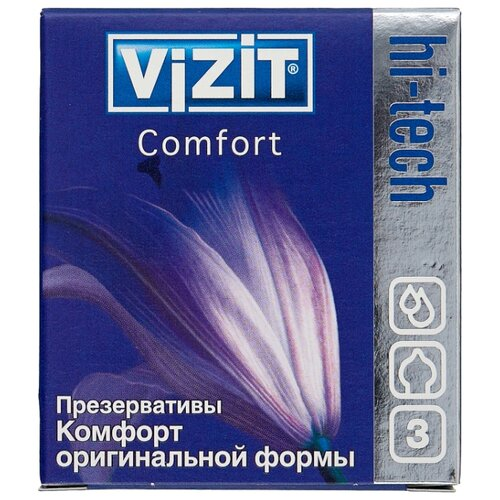 Презервативы Vizit Hi-Tech Comfort (3 шт.)