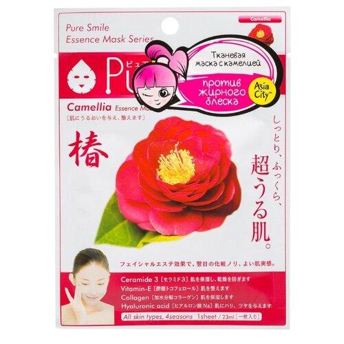 Sun Smile тканевая маска Pure Smile Camellia Essence с экстрактом цветов камелии, 23 мл sun smile тканевая маска yogurt mask увлажняющая с экстрактом отрубей 23 мл