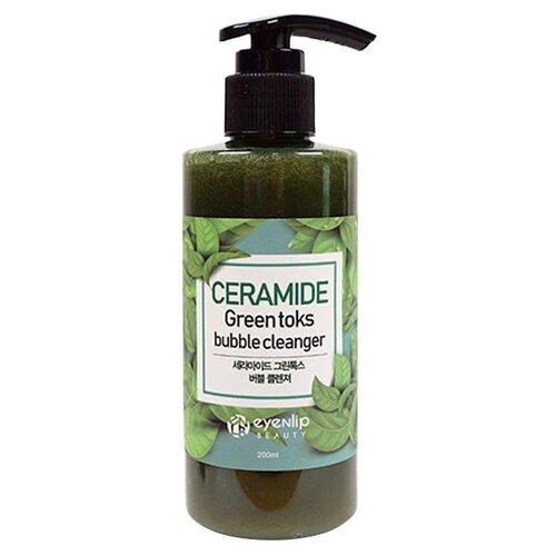 Eyenlip пенка кислородная для умывания Ceramide Green Toks Bubble Cleanser, 200 мл