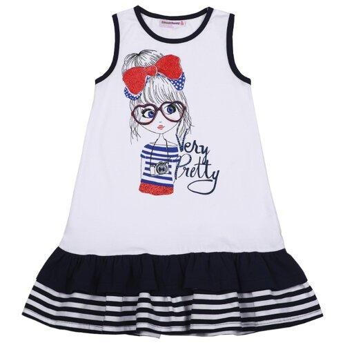 Платье Sweet Berry размер 122, белый-синийПлатья и сарафаны<br>