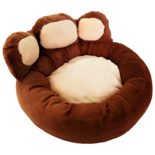 Лежак для собак и кошек LOORI Лапа Z1965 40х40х22 см коричневый